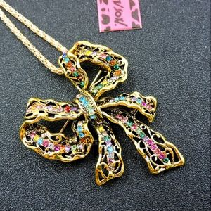 Betsey Johnsin Bow Necklace